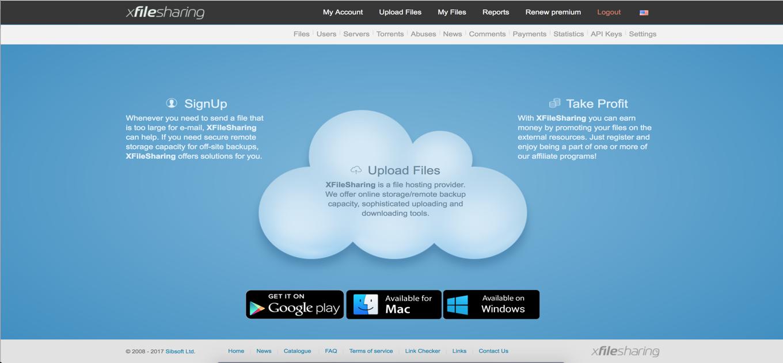 Run your own file hosting like mega.co.nz